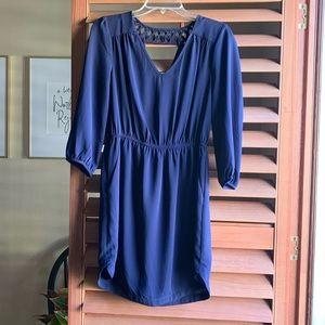 Navy 3/4 Sleeve Dress